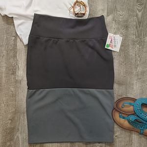 Ombre Grey Stacked Cassie Pencil Skirt